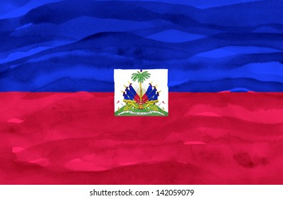 Painted flag of Haiti