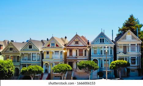 The Painted Ladies in Haight-Ashbury San Francisco California