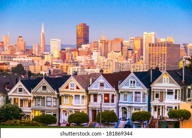 The Painted Ladies of San Francisco, California. USA.