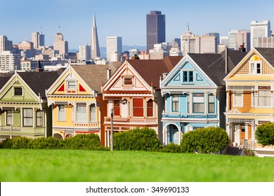 Painted ladies and San Francisco view