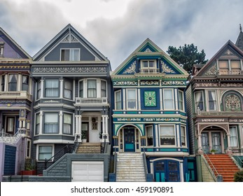 Painted Ladies victorian homes in San Francisco, USA