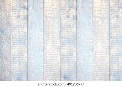 Painted light blue pastel wood background texture