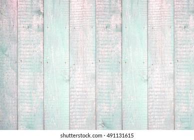 Painted light mint pastel wood background texture