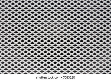 Painted metal speaker grille