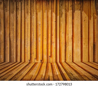 painted old wooden wall. orange room