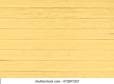 Painted Plain Soft Golden Yellow Rustic Wood Board Background That Can Be Horizontal Or Vertical