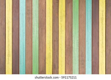 Painted planks and wooden planks for background. Retro style.