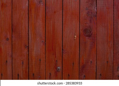 painted red board