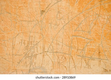 painted scratched wall background