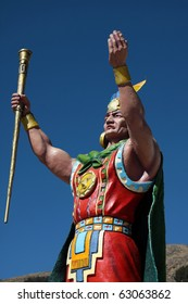 painted statue of a warrior