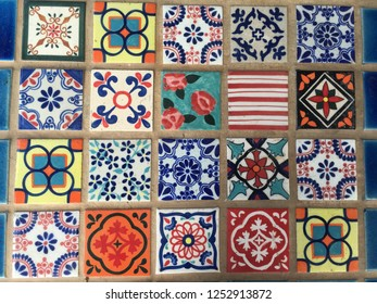 painted tile background
