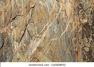 Painted wall texture in Black Canyon of the Gunnison National Park and recreation area at Chasm View, near Montrose, Colorado, USA.