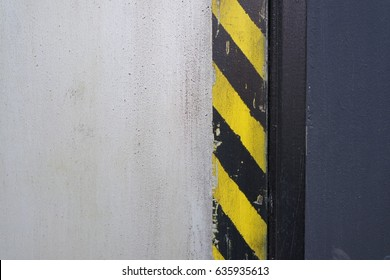 Painted wall, warning pattern
