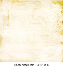 Painted wood crackle distress surface texture -Ivory