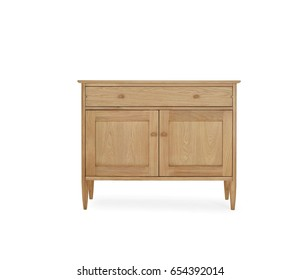 painted wooden cupboard isolated on white