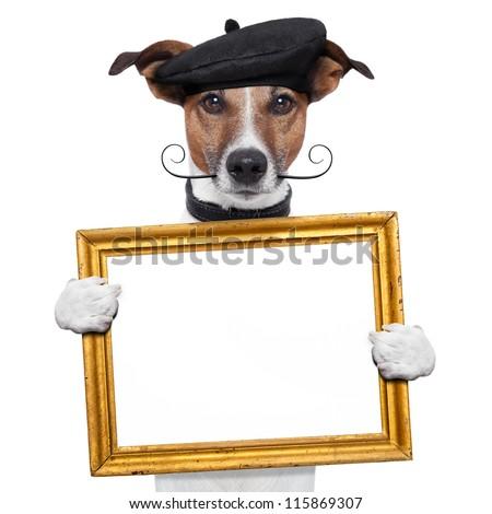 painter artist frame holding