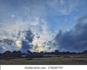 Painterly evening clouds on Flinders Island