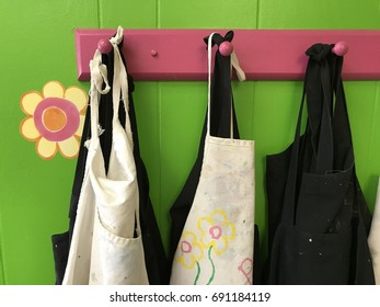 Painters Aprons on Hangers
