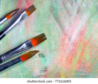 painters brush and colors