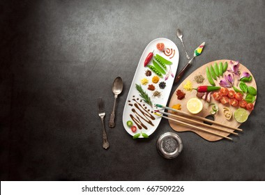 Painters food seasoning palette