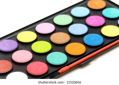 Painters palette isolated on the white background