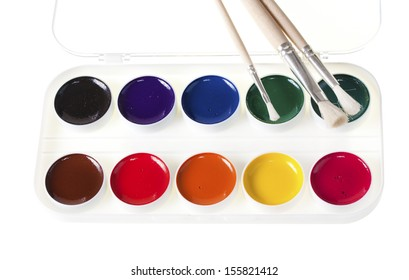 painters palette and paint brush