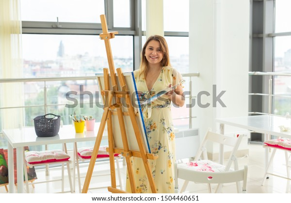 Painting Art Classes Drawing Courses Skills Stock Image Download Now