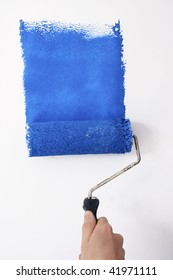 painting blue