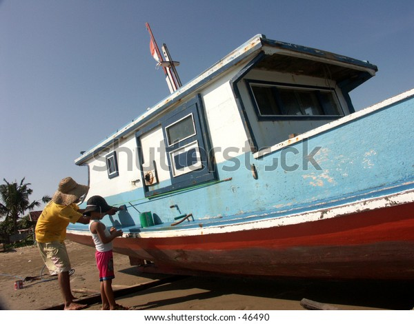 Painting boat