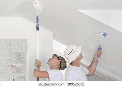 Painting the ceiling wall