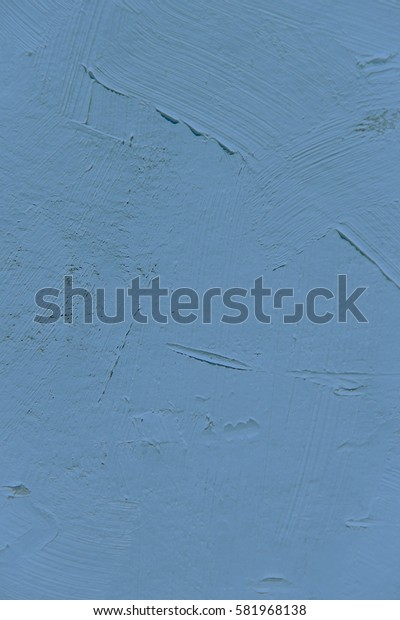 Painting close up of blue pantone niagara color, paint brush texture for interesting, creative, imaginative backgrounds. For web and design.