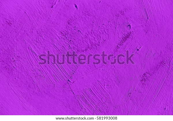 Painting close up of vivid purple color, paint brush strokes  texture for interesting, creative, imaginative backgrounds. For web and design.