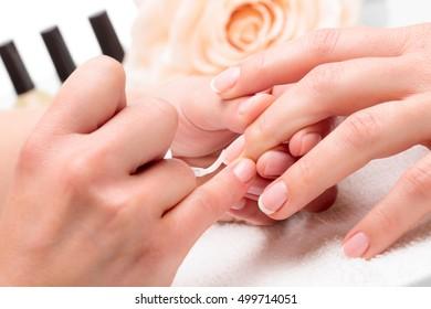 Painting fingernails