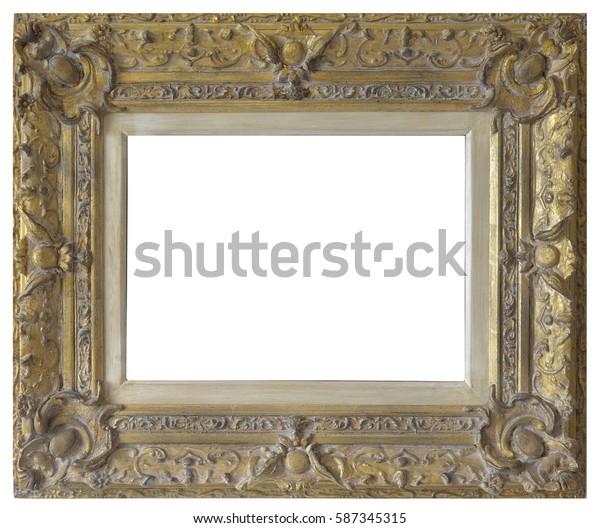 Painting Golden Frame Antique golden frame