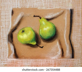 Painting of healthy foods