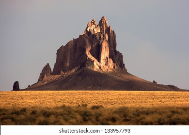 Painting like picture of shiprock in New Mexico