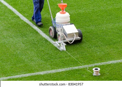 Painting lines on the field