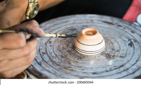 Painting porcelain antique style and antique equipment
