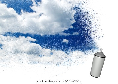 Painting the sky with a spray can/Painting the sky