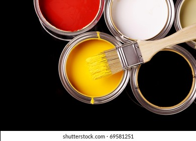 Painting Time! Shiny paint cans
