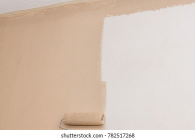 Painting a wall to renovate a room