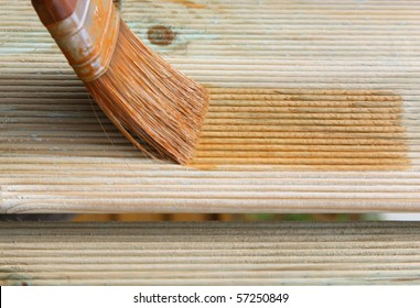 Painting wooden brush