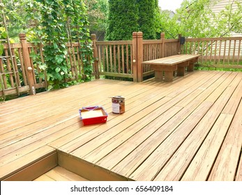 Painting wooden deck
