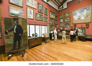 Paintings by Joaqu�¢??n Sorolla y Bastida (1863-1923) as seen in The Sorolla Museum, Madrid, Spain