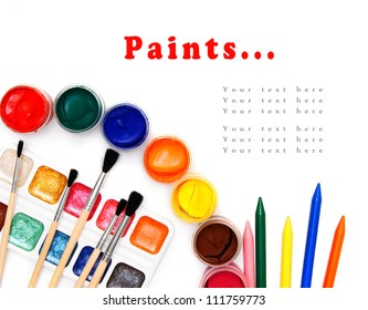 Paints... On a white background.