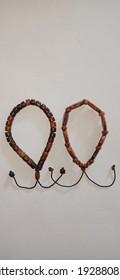 A pair of beautiful kokka wooden bracelets