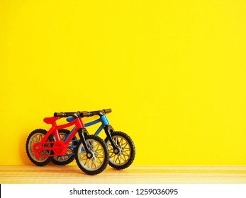 Pair of bicycles with copy space
