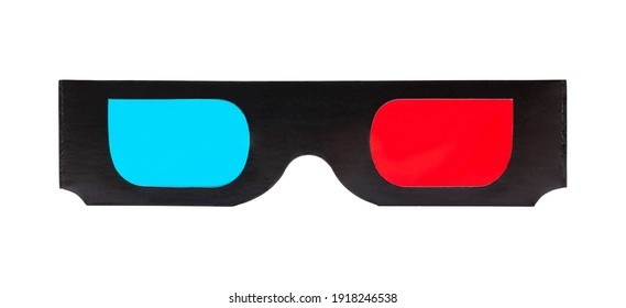 Pair of Black Carboard 3D Glasses Cut Out.
