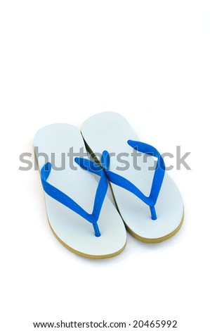 d499a18556b8 Pair Blue Flip Flops Isolated On Stock Photo (Edit Now) 20465992 ...