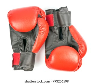 A pair of boxing gloves on a white background. Isolated.